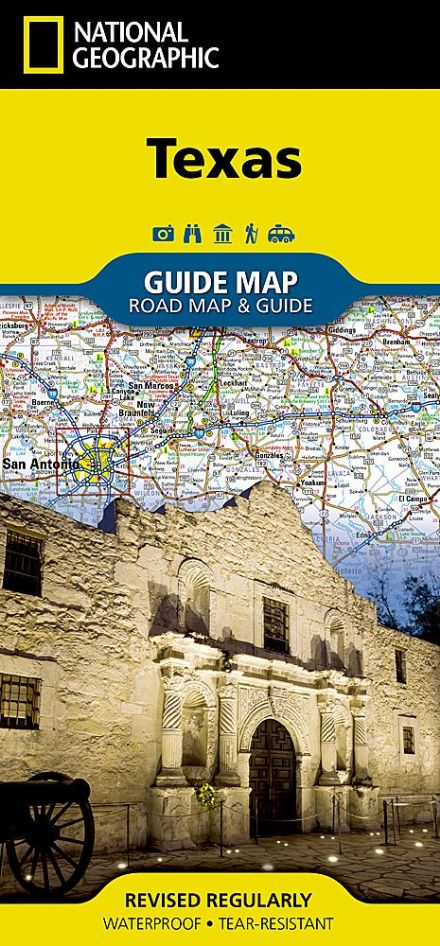 Texas Road Map & Travel Guide GM38